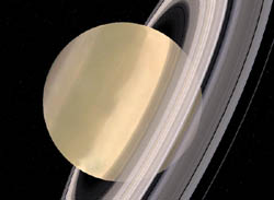 Saturn with rings