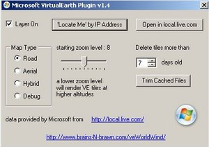 figure 4 - Virtual Earth dialog box
