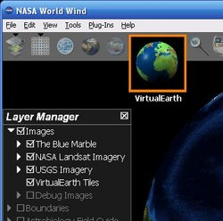 Virtual Earth plug-in