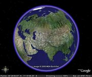 A screenshot of Google Earth.