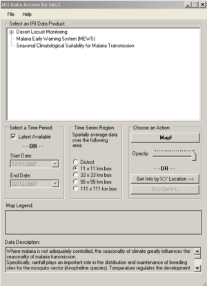 figure 4 - IRI dialog box