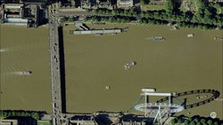 Virtual Earth Aerial view of London (image Copyright Microsoft Corporation)